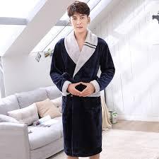 robe de chambre homme chaude hommes flanelle patchwork peignoirs hiver épais chaud robe