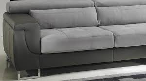 canapé cuir et microfibre canapé d angle gauche cuir microfibre gris pas cher canapé angle