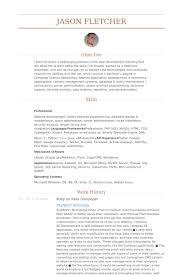 Sql Server Developer Resume Examples by Ruby On Rails Developer Resume Samples Visualcv Resume Samples