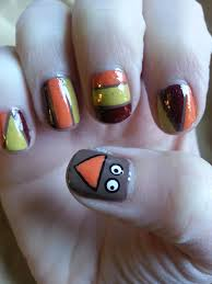 easy thanksgiving nail tutorial nood mood