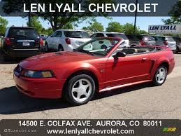 2000 Ford Gt 2000 Laser Red Metallic Ford Mustang Gt Convertible 64924649