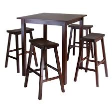 amazon com winsome u0027s parkland 5 piece square high pub table set
