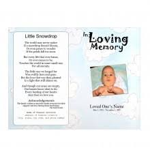 baby funeral program baby youth theme archives funeral phlets