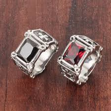 aliexpress buy mens rings black precious stones real men rings big black precious stones ring stainless steel s
