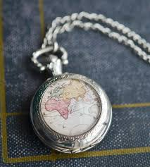 World Map Necklace by World Map Pocket Watch Necklace Jewelry Necklaces Livin