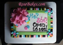 baby gender reveal cake top rose bakes