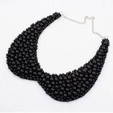 black beaded choker necklace images Black white pearls beaded choker necklaces miraj international llc jpg