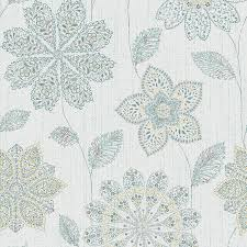 Peel And Stick Wallpaper by Shop Brewster Wallcovering Peel And Stick Blue Vinyl Floral