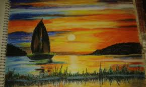 Color Painting by Oil Pastel Color Painting Indian Art Collection