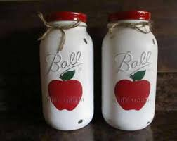 apple canisters for the kitchen apple sugar cookie etsy