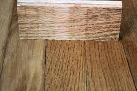 bullnose trim source a the final step staining to match existing