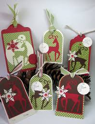 stamping up north with laurie cricut christmas deer tags