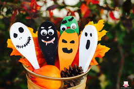 classic halloween wooden spoons annmarie john