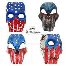 american flag halloween mask by sicchiccreations on deviantart