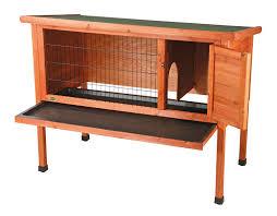 Rabbit Hutch Plans Amazon Com 1 Story Rabbit Hutch Pet Kennels Patio Lawn U0026 Garden