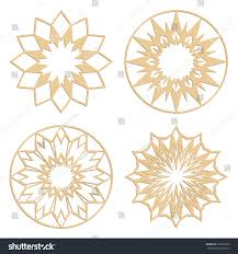 diy laser cutting patterns islamic die stock vector 397283569
