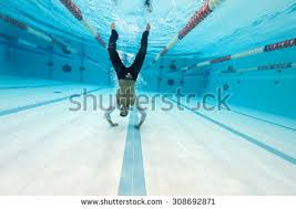 Inside Swimming Pool Underwater Man Portrait Swimming Stock Images Royalty Free Images