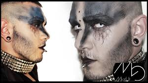 Cool Halloween Makeup Ideas For Men by Futuristic Creepy Dark Wizard Halloween 2014 Easy Make Up Tutorial