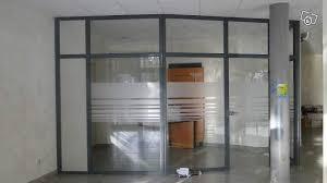 cloison aluminium bureau cloisons en verre avec aluminium graphite occasion