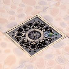 Bathroom Shower Drain Covers Carved Square Bathroom Shower Drain Floor Waste Drain Cover