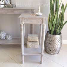 French Provincial Table White Wash Side Table Bedside Table Hampton U0027s Coastal Style French