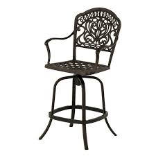 Tuscany Outdoor Furniture by Hanamint Tuscany Swivel Counter Height Bar Stool