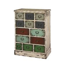Multi Drawer Wooden Cabinet Garrick Distressed 13 Drawer Cabinet Multi Color Oak Grove