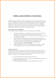 cover letter for a medical receptionist choice image cover