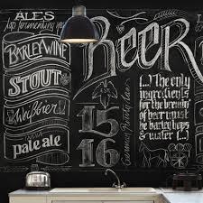 beer walls wallpaper republic chalkboard beer wall mural ty