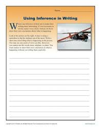 using inference in writing worksheets for high