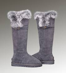 clearance ugg toddler boots uggs leather boots kensington ugg fox fur boots 1852 grey