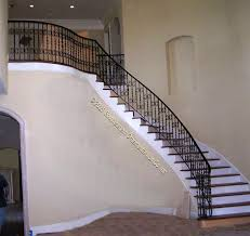 staircase wall design black stair rails with cream walls design stairs design design