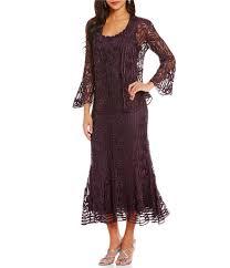 soulmates silk lace jacket dress dillards