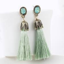 statement earrings wine opal tassel drop statement earrings