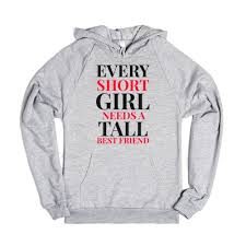 best friend tall short hoodie sweatshirt hoodie skreened
