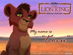 lion king 2 my name is kovu tlk ii kovu cub the lion king