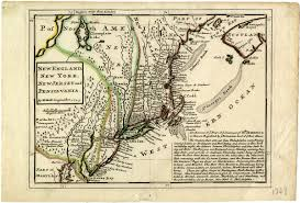 New England Colonies Map by Geographical Features The Colony Of New York