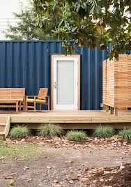 a shipping container airbnb room for tuesday