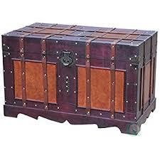 beautiful travel trunks amazon com vintiquewise tm antique style steamer trunk kitchen