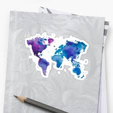World Map T Shirt by Watercolor Map Of The World