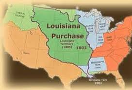 Louisiana Purchase Map by America In 1800 By Matthew Williams