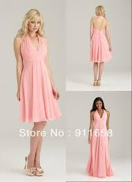 light pink backless prom dress formal dresses