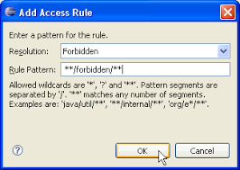 pattern rule directory project using a source framework with restricted access