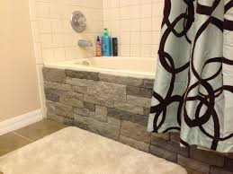 Bathroom Tub Surround Tile Ideas by Stunning Exterior Design With Genstone Panels Stacked Stone
