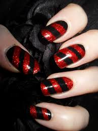 bah humbug red and black almost candy cane nails the adorned claw
