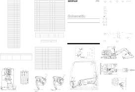 307c excavator akashi elec schematic used in service manual