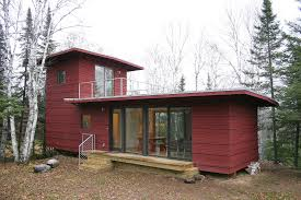 fresh tiny home with rooftop deck bus converted cabin rooftop deck