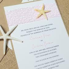 starfish wedding invitations starfish wedding invitations