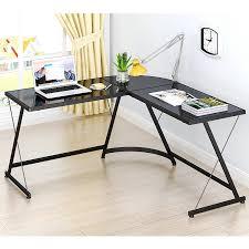 Desk by Amazon Com Lecrozz L Shaped Home Office Corner Desk Kitchen U0026 Dining