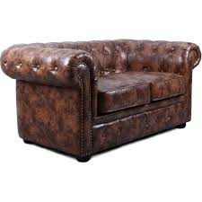 canapé chesterfield cuir vintage canapé chesterfield 2 places cuir marron vintage susan lestendances fr